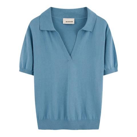 Rodier Blue Cotton/Cashmere Blend Top