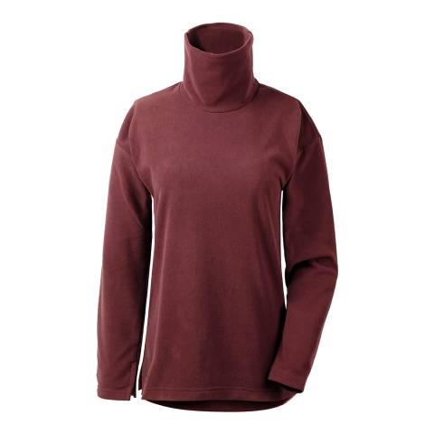 Didriksons Old Rust Burgundy Johanna Polo Sweater