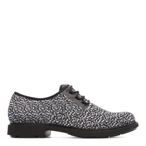 Camper Black Multicolour Knitted Fabric Neuman Formal Shoe