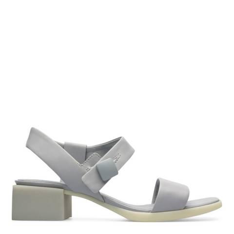 Camper Grey Leather Kobo Sandal