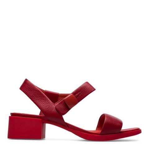 Camper Red Leather Kobo Sandal