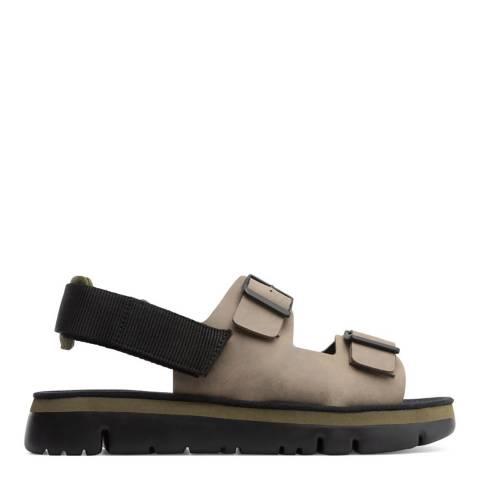 Camper Grey Leather Oruga Sandal
