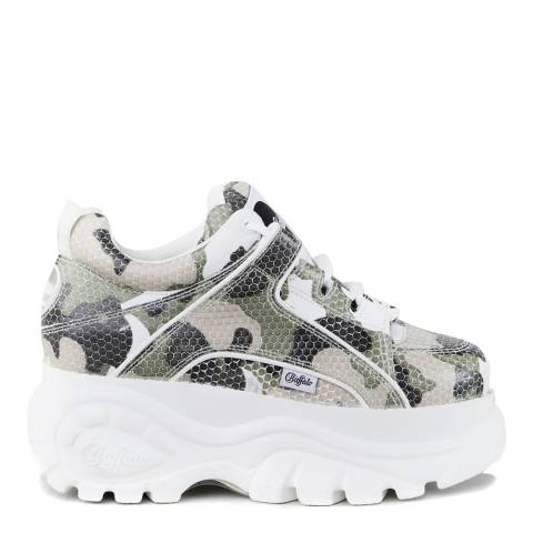 Buffalo Multi Camouflage Leather Classic Chunky Sneaker