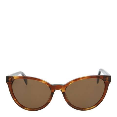 Alexander McQueen Women's Havana Alexander McQueen Sunglasses 55mm