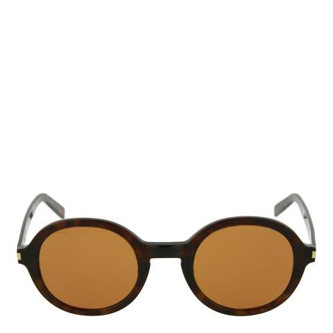Saint Laurent Unisex Havana Brown Saint Laurent Sunglasses 54mm