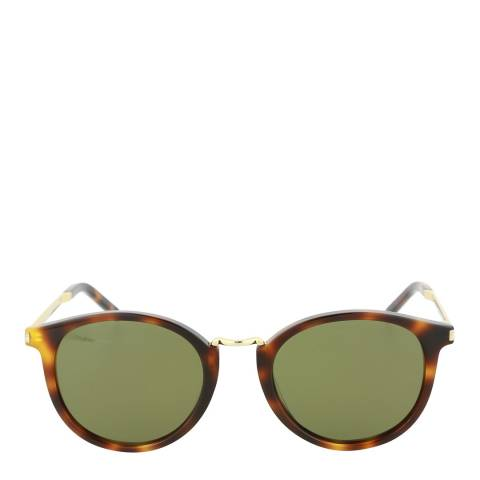 Saint Laurent Unisex Havana/Green Saint Laurent Sunglasses 49mm