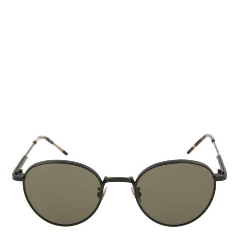 Bottega Veneta Unisex Grey Green Round Sunglasses