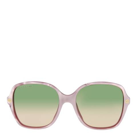 Gucci Women's Pink/Green Gucci Sunglasses 54mm