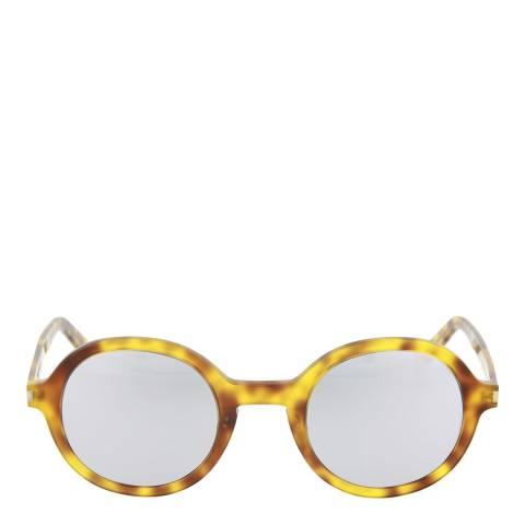 Saint Laurent Unisex Brown/Silver Saint Laurent Sunglasses 48mm