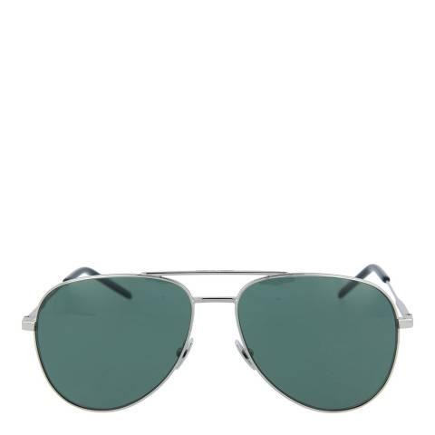 Saint Laurent Unisex Silver/Green Saint Laurent Sunglasses 55mm