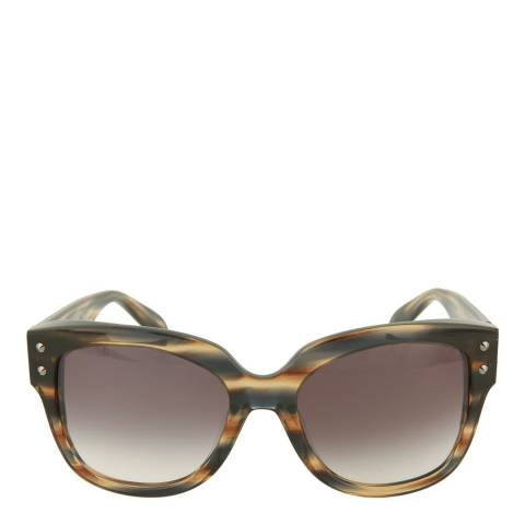 Alexander McQueen Women's Tortoise Grey Alexander McQueen Sunglasses 58mm