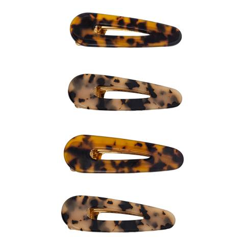 Zoe Ayla 4-pack Leopard mix Hair Clips