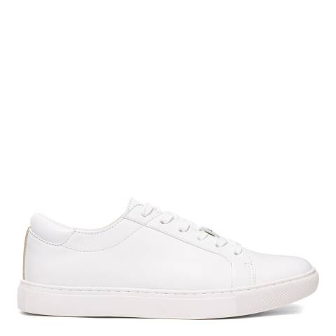 Kenneth Cole White Kam Leather Sneakers