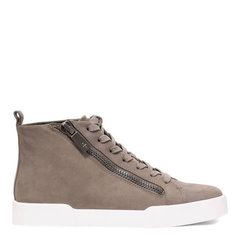 Kenneth Cole Grey Tyler Mid Zip Sneakers
