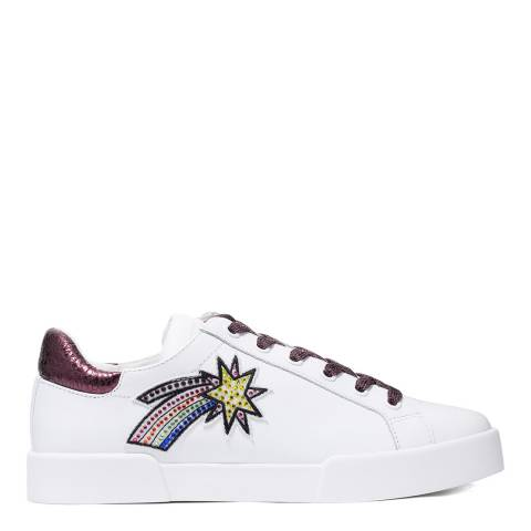 Kenneth Cole White Tyler Space Sneakers