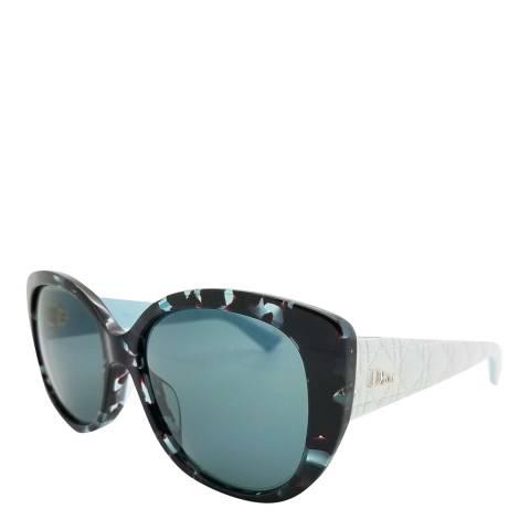 Dior Women's Black/Blue Dior Sunglasses 55mm