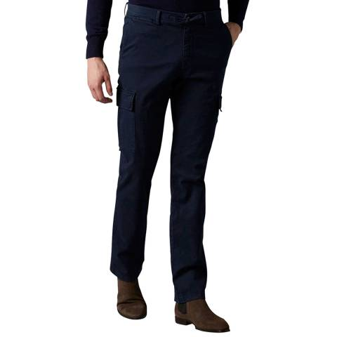 7 For All Mankind Navy Twill Slimmy Cargo Chinos