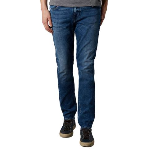 7 For All Mankind Blue Ronnie Comfort Luxe Stretch Jeans