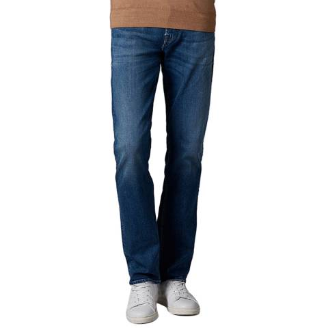 7 For All Mankind Indigo Slimmy Comfort Luxe Stretch Jeans