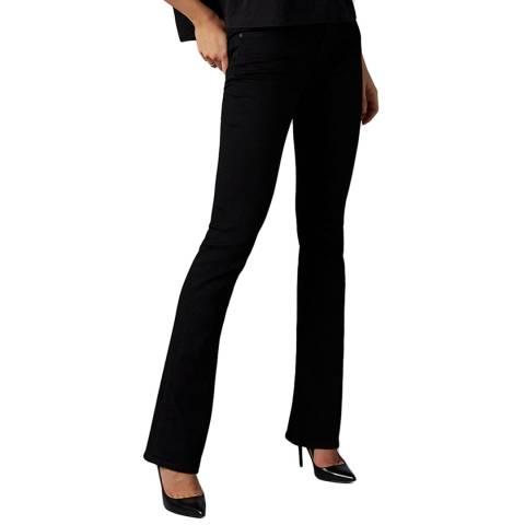 7 For All Mankind Black Bootcut Slim Evolution Stretch Jeans