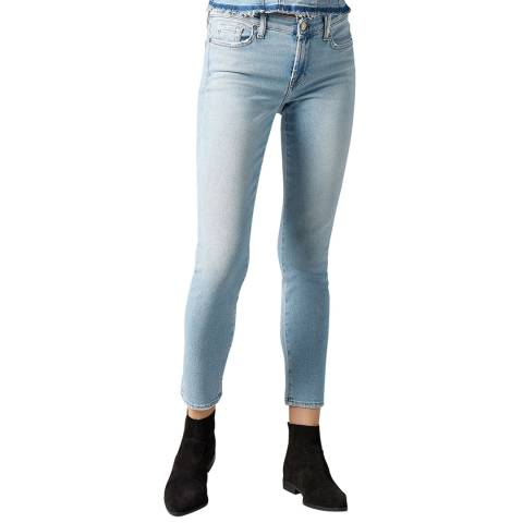 7 For All Mankind Light Blue Pyper Luxe Stretch Jeans