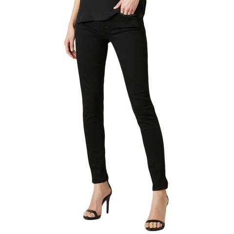 7 For All Mankind Black Skinny Stretch Jeans