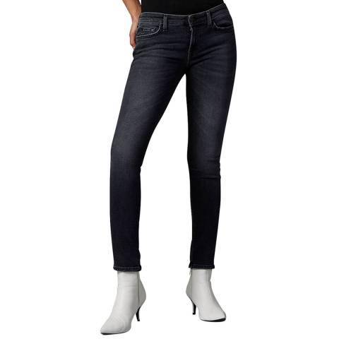 7 For All Mankind Black Pyper Slim Illusion Stretch Jeans