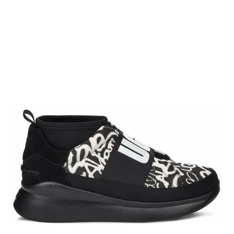 UGG Black & White Neutra Graffiti Pop Sneakers