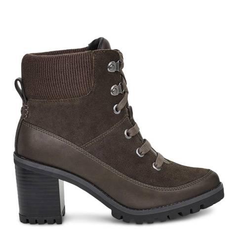 UGG Black Olive Redwood Heeled Boots