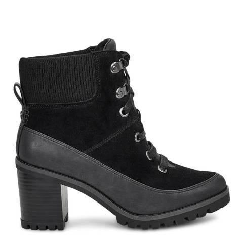 UGG Black Redwood Heeled Boots