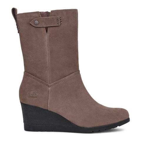 UGG Mole Grey Potrero Waterproof Leather Boots