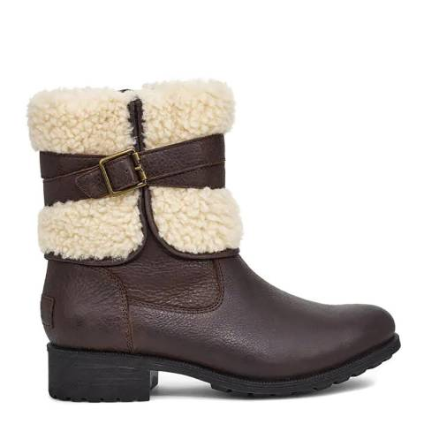 UGG Brown Blayre Leather IV Boots