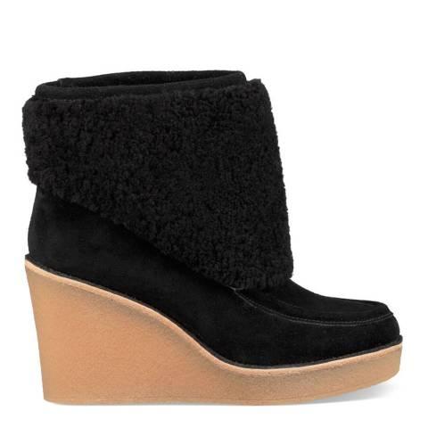 UGG Black Coldin Sheepskin & Suede Ankle Boots
