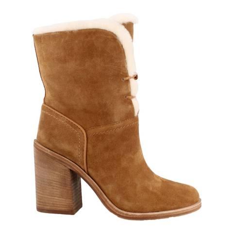 UGG Chestnut Jerene Suede Ankle Boots