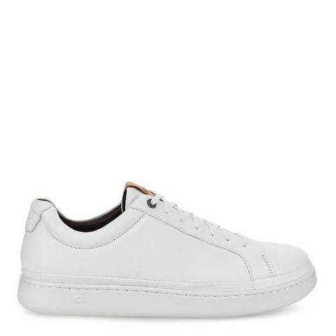 UGG White Leather Cali Low Sneakers