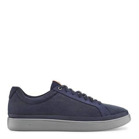 UGG Navy Leather Cali Low Sneakers