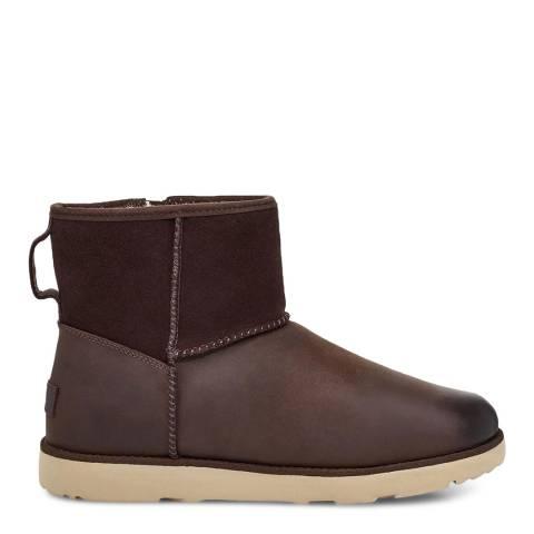 UGG Stout Waterproof Suede Zip Classic Mini Boots