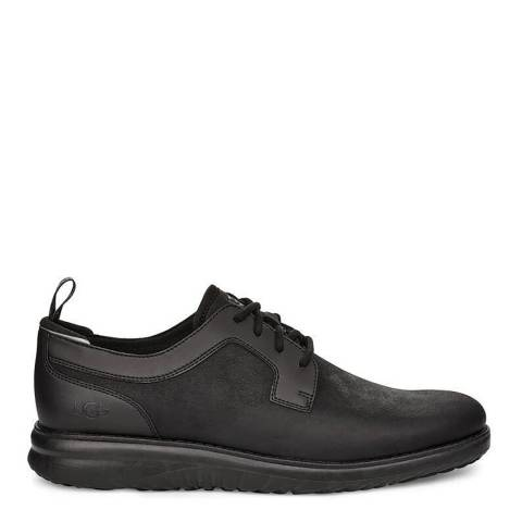 UGG Black Leather Union Derby Weatherproof Sneakers