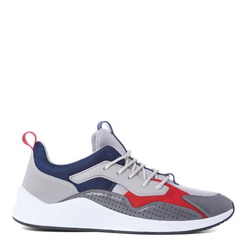 Cortica Grey, Navy & Red Poise 419 Sneakers
