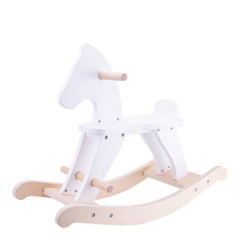 New Classic Toys Wooden Rocking Horse - White