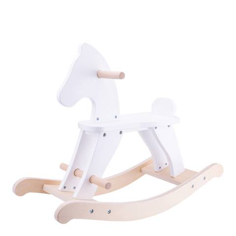 New Classic Toys White Wooden Rocking Horse