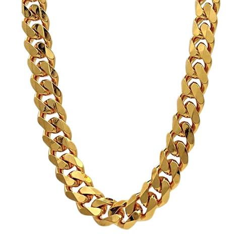 Stephen Oliver 18K Gold Plated Cable Necklace