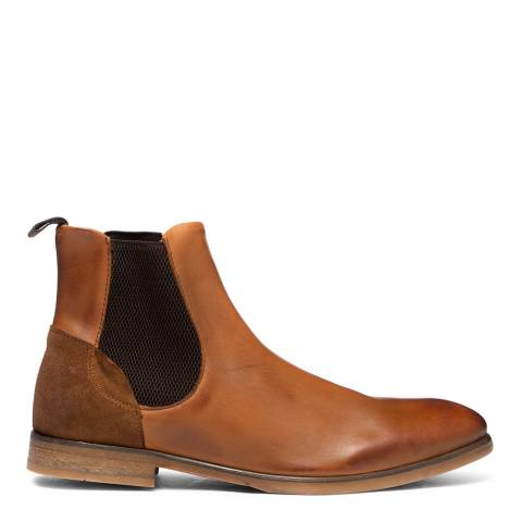 Hudson London Tan Watchley Leather Chelsea Boots