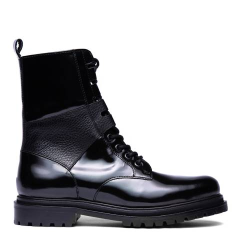 H by Hudson Black Blair Ankle Boots