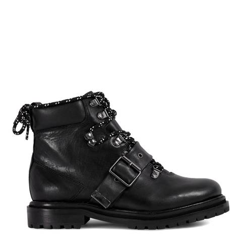 H by Hudson Black Piper Hiker Boots