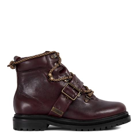 H by Hudson Burgundy Piper Hiker Boots
