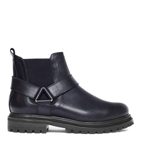 H by Hudson Black Moss Chelsea Boots