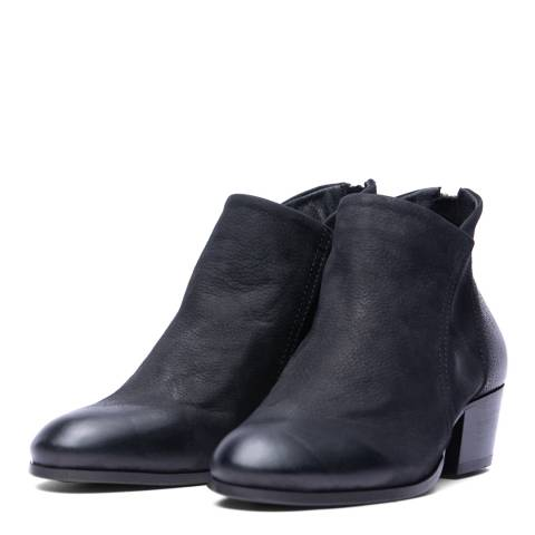H by Hudson Black Apisi Ankle Boots