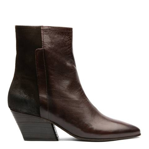 H by Hudson Brown Elm Ankle Boots