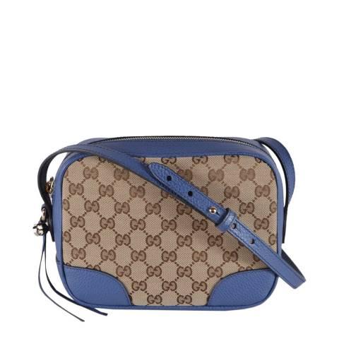 Gucci Blue/Beige Bree Crossbody Bag